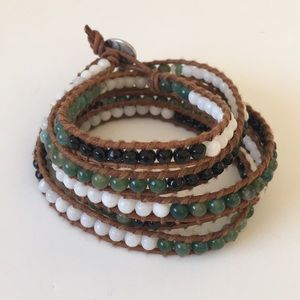 Chan Luu 5 Wrap Gemstone Bead Bracelet